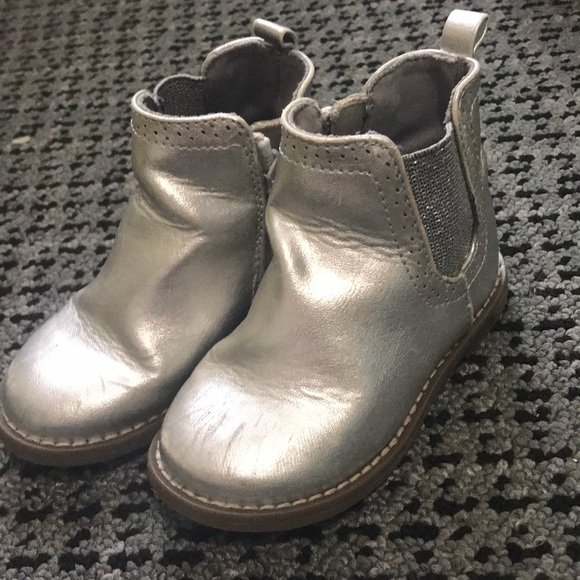 GAP Shoes   Silver Booties For Little